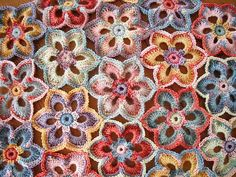 Lily Crochet King Blanke. Love the colours....