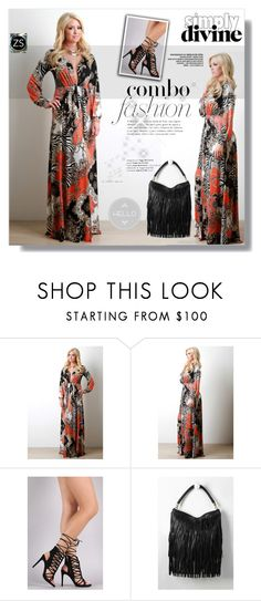 """""""Maxi dress"""" by sans-moderation ❤ liked on Polyvore featuring dress, print and summerstyle"""
