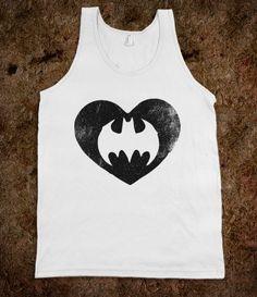 Batman Love (Neon Tank) - Fun Movie Shirts - Skreened T-shirts, Organic Shirts, Hoodies, Kids Tees, Baby One-Pieces and Tote Bags