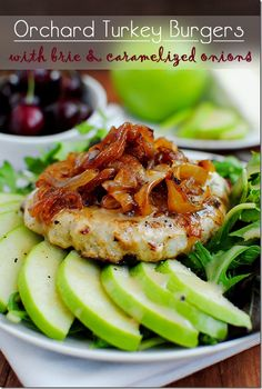 Orchard Turkey Burgers are moist, flavorful, and juicy from the addition of fresh apples in the burger! #dinner
