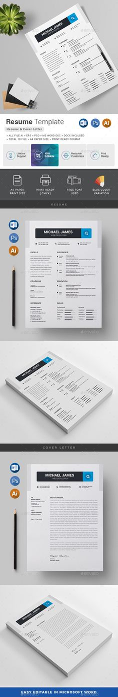 Resumedoc Classy Modern Resume & Cover Letter Template