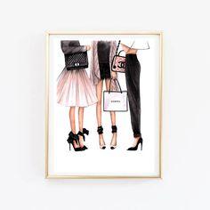 Mode-Illustration Chanel Kunst Chanel print Mode Wandkunst Coco Chanel Chanel Poster Chanel Kunst Druck Wohnkultur Chanel Chanel Mädchen Dies ist ein Druck - Kopie von meiner Originalvorlage gezeichnet mit weichen Pastell und Aquarell Bleistifte. Erhältlich in 2 verschiedenen Größen,