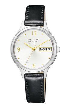 マーガレット・ハウエル アイデアの時計「デイデイト」日付&曜日を表示、コードバンストラップの限定版も 写真3
