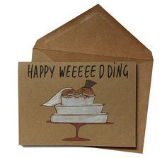 Funny wedding card | Pigs Wedding card | Happy Wedding Day Card | Cute pig Wedding card | Newly weds card by MashUpArt on Etsy https://www.etsy.com/listing/292564817/funny-wedding-card-pigs-wedding-card