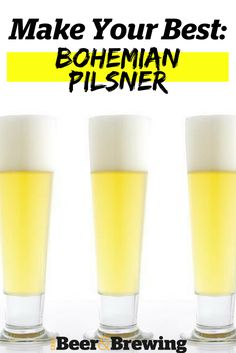 Bohemian Pilsner has a restrained fermentation character and a clean but complex biscuity maltiness with an absolute avalanche of hops without harsh bitterness. Brewing one is easier and harder than people think. Beer Brewing Kits, Brewing Recipes, Homebrew Recipes, Beer Recipes, Make Beer At Home, How To Make Beer, Home Brewing Equipment, Pilsner Beer, Home Brewery