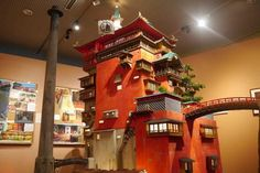 Anime Fans, Don't Miss These Studio Ghibli Exhibits - the bathhouse from Spirited Away and others! Studio Ghibli, Spirited Away Bathhouse, Isometric Map, Ghibli Movies, Hayao Miyazaki, Animation, Miniature Houses, Vocaloid, Images
