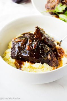This super simple recipe for how to make Instapot short ribs will save your life! Super tender short ribs with a delicious red wine and balsamic sauce will steal the show at any dinner table yet they are simple enough to make for a Monday dinner!