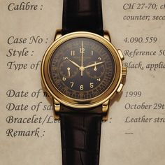 PATEK PHILIPPE REF. 5070 YELLOW GOLD Patek Philippe, Genève, movement No. 3146476, case No. 4090559, Ref. 5070 J. Made in 1999, sold October 29th, 1999.