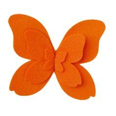 Felt Butterfly Tie-On Orange