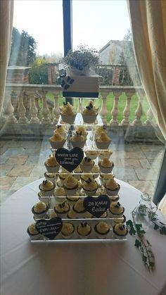 Cupcake tower #weddingcake#cheshirewedding Cake Blog, Wedding Cakes, Cupcake, Tower, Table Decorations, Inspiration, Home Decor, Wedding Gown Cakes, Biblical Inspiration