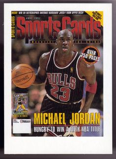 1998 SPORTS CARDS MAGAZINE MICHAEL JORDAN ADVERTISER CARD FREE SHIPPING #ChicagoBulls
