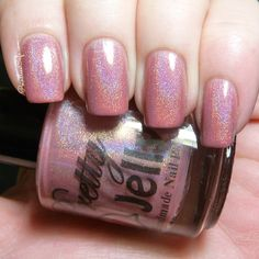 Roseate is a rose pink with a strong linear holo.