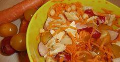 Recette de Salade pois chiches, carottes, artichaut par Lucie. Facile et rapide à réaliser, goûteuse et diététique.