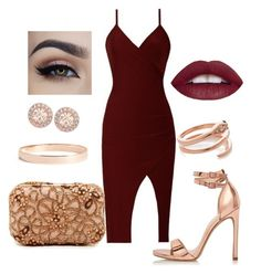 """Wine&Rose gold"" by b-lee25 ❤ liked on Polyvore featuring Alice + Olivia, River Island, Lana Jewelry and Givenchy"