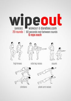 No-equipment bodyweight workout for all fitness levels. Print & use.
