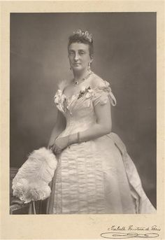 Marie Isabelle The Countess of Paris - see earlier pin in clour of later countess wearing the parure.