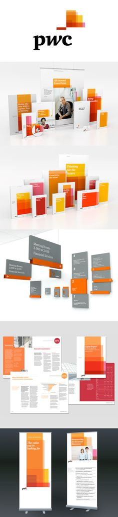 Pinned from https://pinterest.com/rothenhaeusler/best-of-corporate-design/ ·  Client: pwc · Agency: Wolff Olins #branding #identity #corporatedesign