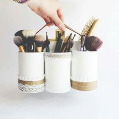 Upcycle & Paint your metal cans to turn them into storage containers...