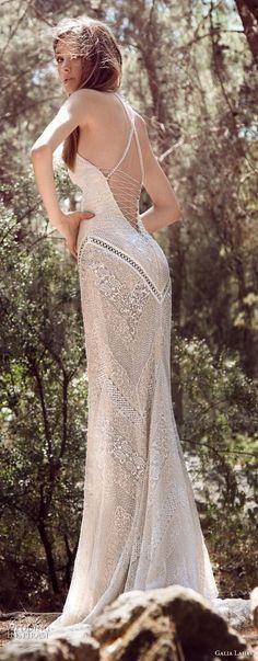 galia lahav gala 4 2018 bridal sleeveless halter jewel neck full embellishment elegant sheath wedding dress open low back short train (910) bv