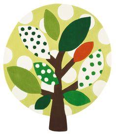 Children's rug Designers Guild #Tree - Tappeto per bambini #albero