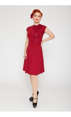 Lindy Bop Dottie dress red-black