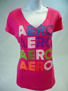 Aeropostale-Womens-Juniors-Short-Sleeve-Graphic-T-shirt-Pink-size-XL-Aero-Tee