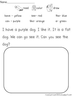 Free Comprehension page!