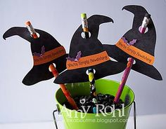 witch hat pencil toppers