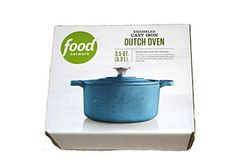 Food Network 3.5 qt Enameled Cast-Iron Dutch Oven Light Blue