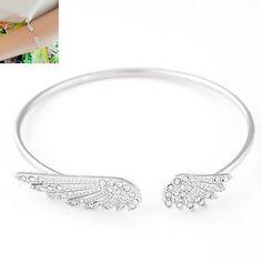 Fashion Style Women Angel Wing Elegant Bangle Cuff Bracelet Jewelry Gift