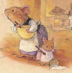 Down in the Redwall Kitchens. Original Christopher Denise {the Redwall books artwork is so charming! <3}