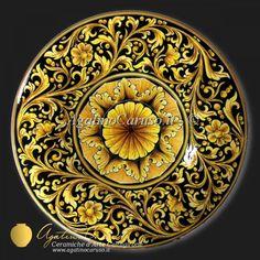 Piatto in ceramica di Caltagirone