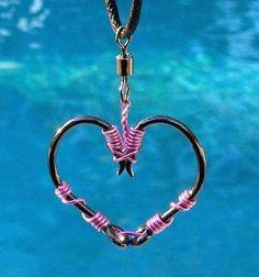 Fish hook heart....it'd be cool as a bracelet
