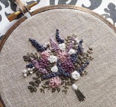 Wonderful Ribbon Embroidery Flowers by Hand Ideas. Enchanting Ribbon Embroidery Flowers by Hand Ideas. Bullion Embroidery, French Knot Embroidery, Hardanger Embroidery, Learn Embroidery, Hand Embroidery Stitches, Silk Ribbon Embroidery, Hand Embroidery Designs, Embroidery Techniques, Embroidery Kits
