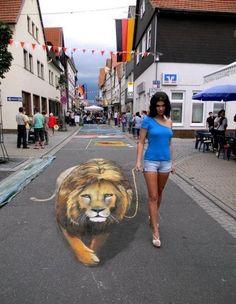 street art, optical illusions
