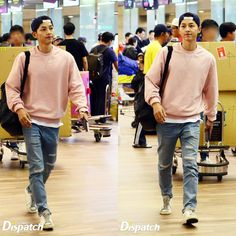 150928 || Song Joong Ki 송중기 at Incheon Airport, ready to depart to Greece for Descendants of the Sun shooting.
