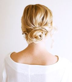 This romantic crossed bun can be done in less than 15 minutes   thebeautyspotqld.com.au