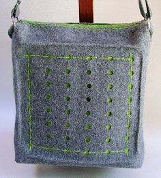Beautiful BUREL bag (portuguese home made fabric, 100 % sheep wool). See it at http://ideiassemfim.blogspot.pt/