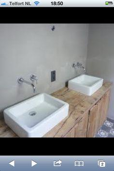 Beton cire en wastafels