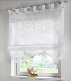 Roman Blackout Windows Half-Curtain House Kitchen Short Panel Drape Valance UK