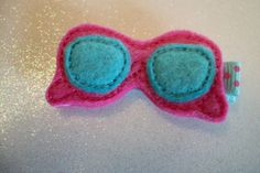 Boutique Embroidered Felt Sunglasses Hair Clip by pachwilliamson, $3.00