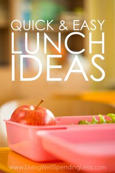 Do you dread packing school lunches?  While hot lunches might be easier, they aren't necessarily healthier, tastier, or more cost effective than   bringing one from home.  Don't miss these ten quick