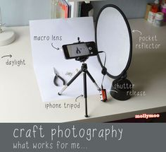 {sharing post} - what gadgets and set up I use for photographing my craft projects, indoors and out | MollyMoo