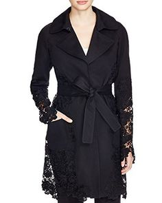 In an enchanting take on a rainy-day classic, Elie Tahari's ultra-feminine trench coat blooms with romantic guipure lace in an evergreen floral motif that will take you from season to season in style. Notch collar with hook closure, long raglan sleeves. Concealed front snap closure,...  More details at https://jackets-lovers.bestselleroutlets.com/ladies-coats-jackets-vests/casual-jackets/product-review-for-elie-tahari-womens-lisa-floral-lace-trench-coat-in-black-size-s
