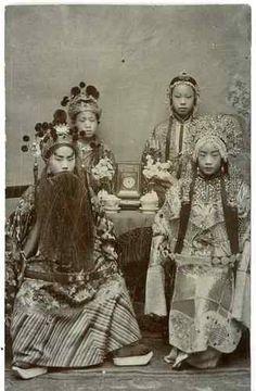Chine, Beijing Opera Vintage print, China Tirage citrate 6,5x10,5
