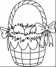 Easter Egg Basket Coloring Pages 38 1745