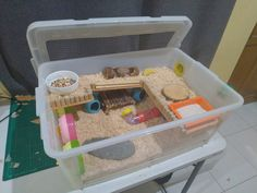 Hamster Bin Cages by Philippine Hamster Keepers - Kelly Janulis - Playground Syrian Hamster Cages, Dwarf Hamster Cages, Hamster Bin Cage, Hamster Life, Hamster Toys, Hamster Stuff, Hampster Cage, Gerbil, Hamster Habitat