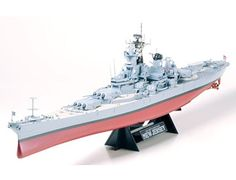 The Tamiya US Battleship USS New Jersey BB-62 in 1/350 scale from the plastic ship model range accurately recreates the real life US battleship that saw service during World War II.
