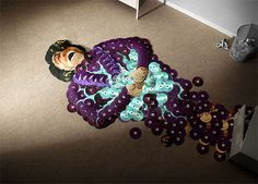 Amazing Art Portraits Of Famous Musicians Using Their Own CDS 6
