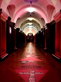 """The """"History of Story"""" Hallway into the General Assembly, London Film Museum, SapientNitro's iEX 2013 (photo by Mike Kus)"""